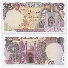 Банкнота 100 риалов 1982 года. Иран. Pick 135. Из банковской пачки (UNC)