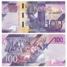 Банкнота 100 шиллингов 2019 года. Кения. PICK 53. Из банковской пачки (UNC)