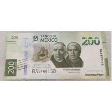 Полимерная банкнота 200 ПЕСО 2019 год. МЕКСИКА. Из банковской пачки (UNC)
