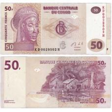 Банкнота 50 франков 2013 год. Конго. Pick 97a. Из банковской пачки (UNC)