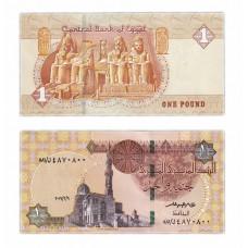 Банкнота 1 фунт 2017 год. Египет. Pick 70b. Из банковской пачки (UNC)