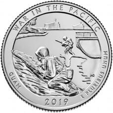 Национальный монумент воинской доблести в Тихом океане. 25 центов 2019 года США. №48. (монетный двор Денвер) (UNC)