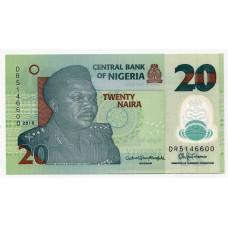 Полимерная банкнота 20 найра 2018 года. Нигерия. UNC
