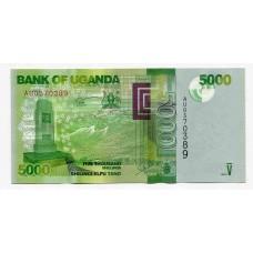 Банкнота 5000 шиллингов 2013 года. Уганда. UNC