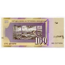 Банкнота 100 денаров 2018 года. Македония. UNC