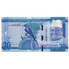 Банкнота 20 даласи 2015 года. Гамбия. UNC