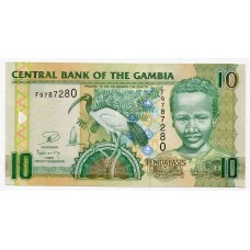 Банкнота 10 даласи 2006 года. Гамбия. UNC