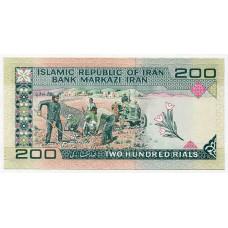 Банкнота 200 риалов 1982 года  Иран. Из банковской пачки