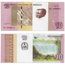 Банкнота 10 кванз 2012 года. Ангола UNC
