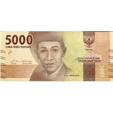 Банкнота 5000 рупий 2016 год. Индонезия (UNC)
