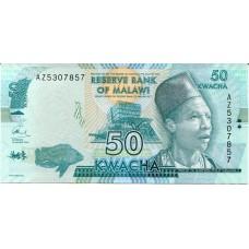 Банкнота 50 квача 2016 год. Малави (UNC)