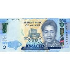 Банкнота 200 квача 2016 год. Малави (UNC)