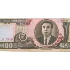 Банкнота 100 вон 1992 года. Северная Корея (UNC)