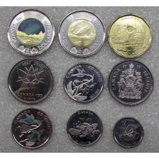 150 лет Конфедерации Канады.  2017 год. Канада  (набор 9 монет)