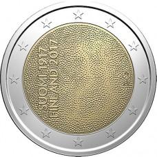 100-летие независимости Финляндии. 2 евро 2017 года. Финляндия (UNC)