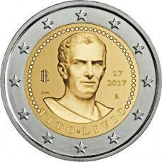 2000 лет со дня смерти Тита Ливия. 2 евро 2017 года. Италия (UNC)