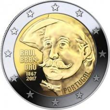 150 лет со дня рождения писателя Раула Брандана. 2 евро 2017 года. Португалия (UNC)